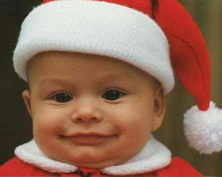 Photograph of little Santa