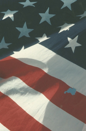 Colored photo of American flag