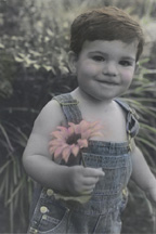 Little Boy with Flower