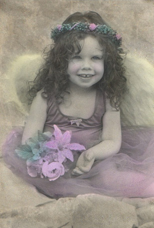 Hand colored photograph of Rachel