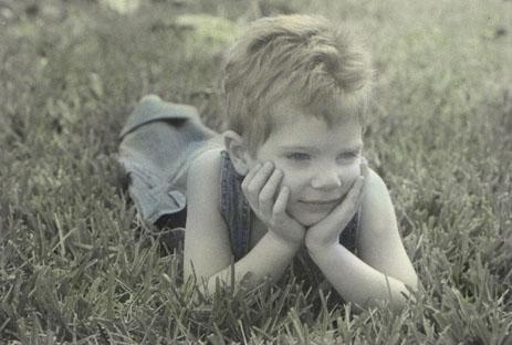 Handcolored photograph of Ryan